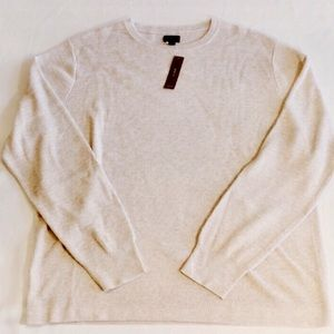 J. Crew Cotton Thermal Knit Crewneck Sweater